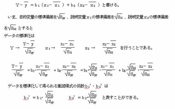 相 決定 数 係数 関係